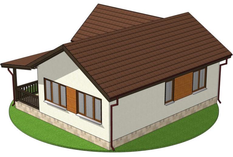 Проект каркасного дома из СИП панелей C1701 Вапнярка