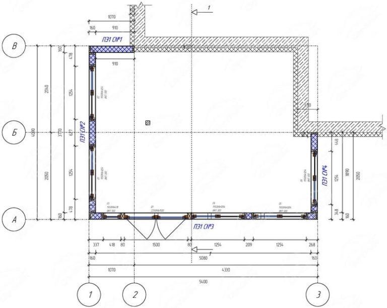 План этажа зимнего сада из СИП панелей