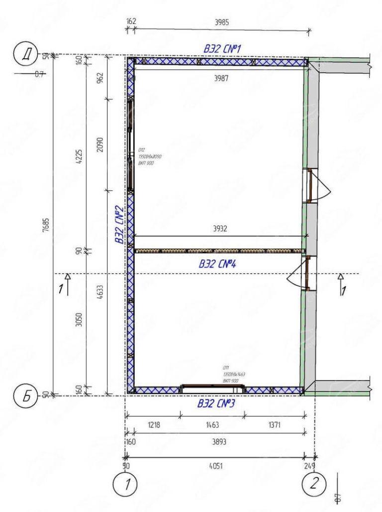 План этажа надстройки дома из СИП панелей