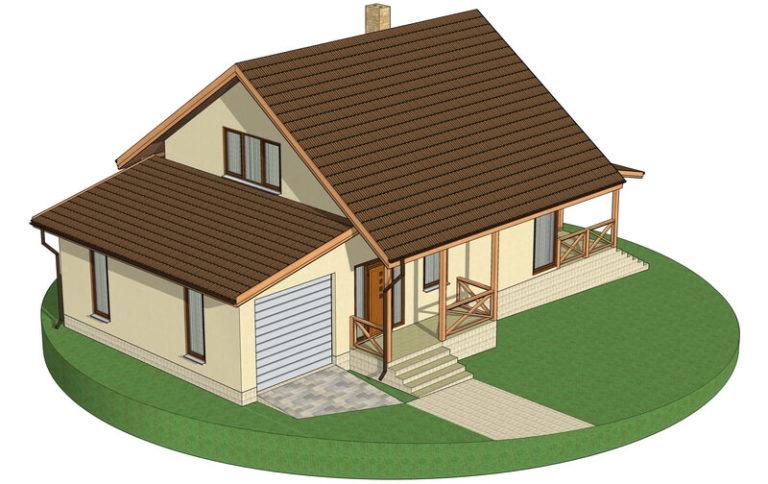 Проект каркасного дома из СИП панелей C1620 Бердичев