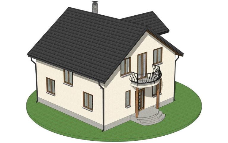Проект каркасного дома из СИП панелей C1616 Могилев-Подольский
