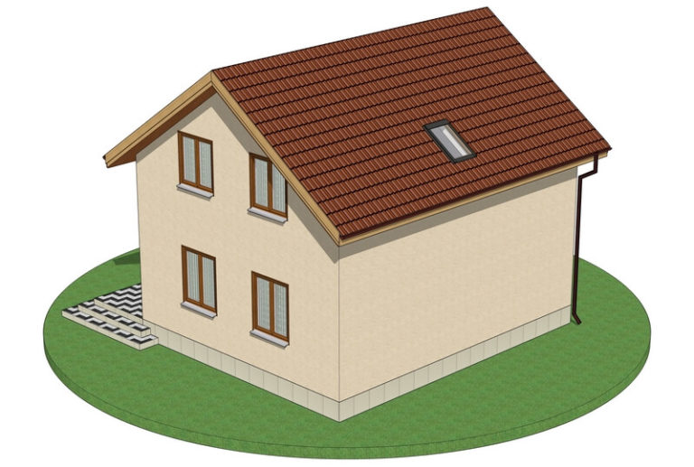 Проект каркасного дома из СИП панелей C1709 Фастов
