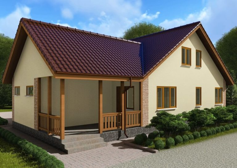 Проект каркасного дома из СИП панелей C1717 Шаргород