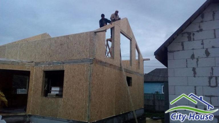 Собираем конструкцию крыши, мауэрлаты и прогоны
