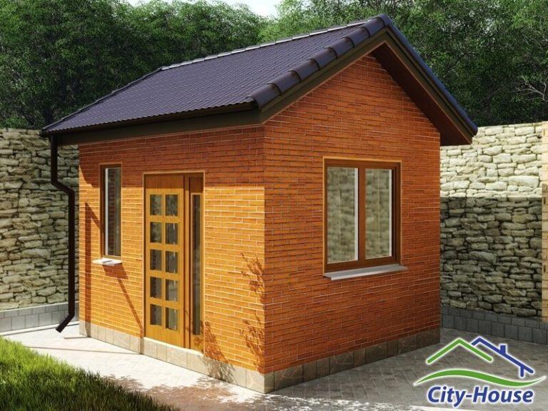 Архитектурная визуализация садового домика из SIP панелей