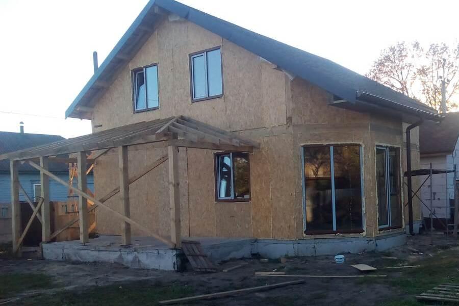 Энергосберегающий дом из СИП панелей 128 м2 в Сумах