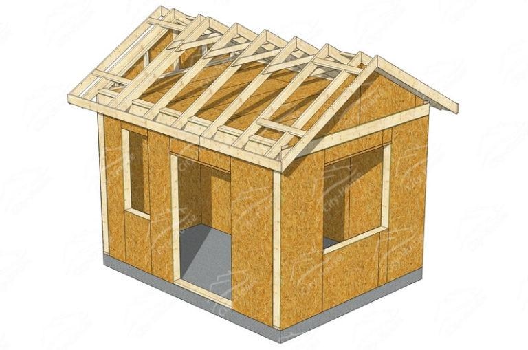 Конструкция домокомплекта садового домика из SIP панелей по проекту для сборки