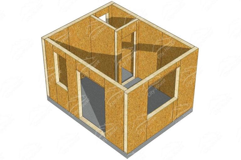 План этажа домокомплекта садового домика из SIP панелей по проекту для сборки