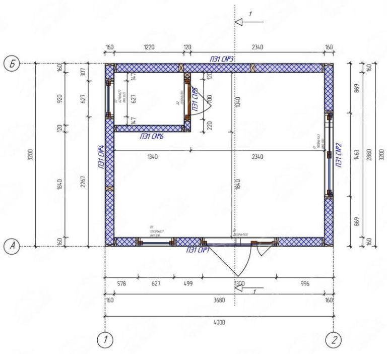План садового домика из SIP панелей