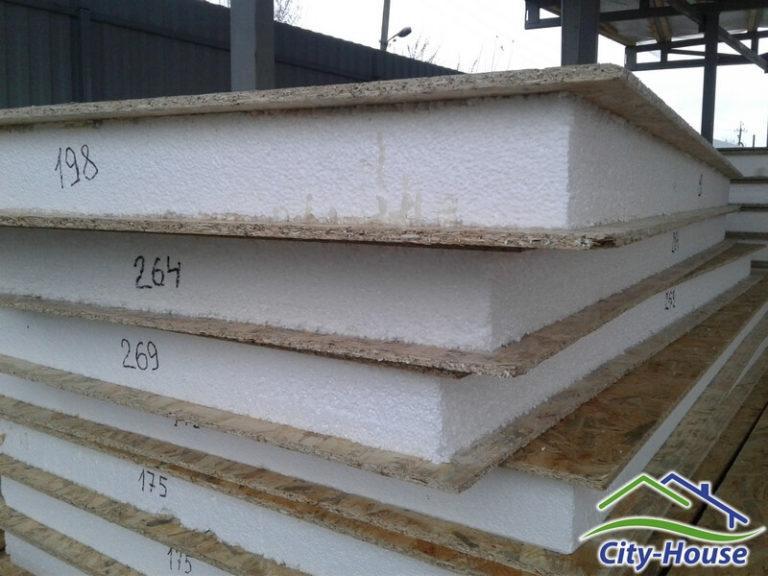 СИП панели имеют свои номера и промаркированы со всех сторон для удобства монтажа