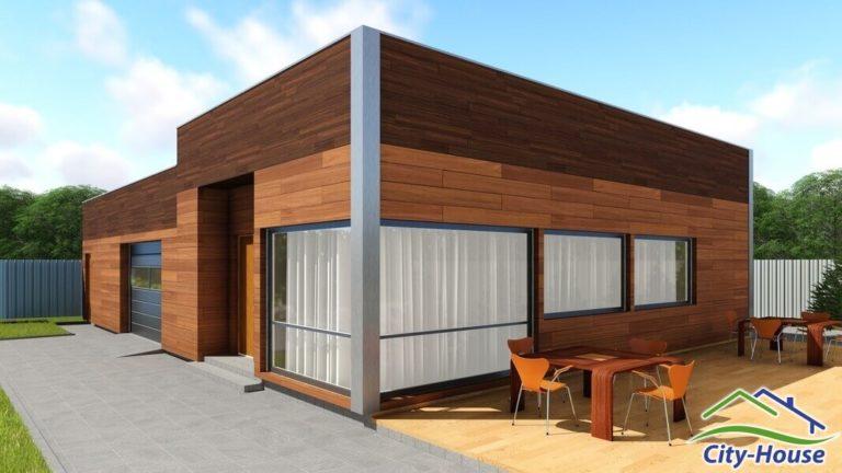 Архитектурная визуализация офисного здания из СИП панелей