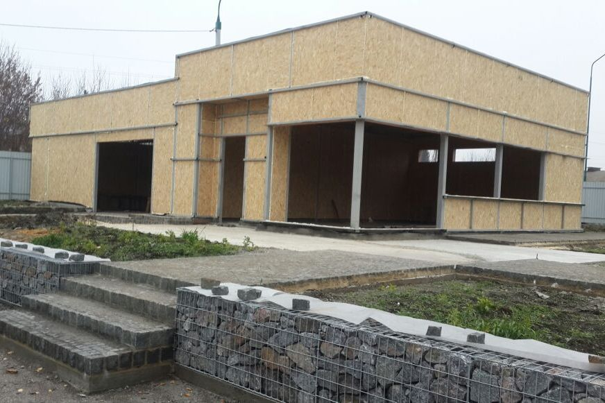 Строительство офиса из СИП панелей и металлокаркаса