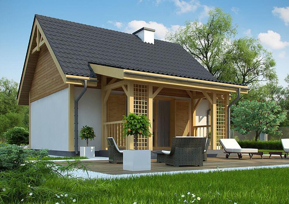 Проект каркасного дома из СИП панелей C1759 Володарка