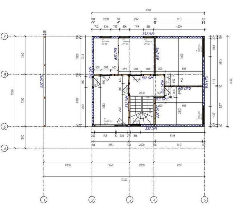 План первого этажа каркасного дома хай тек