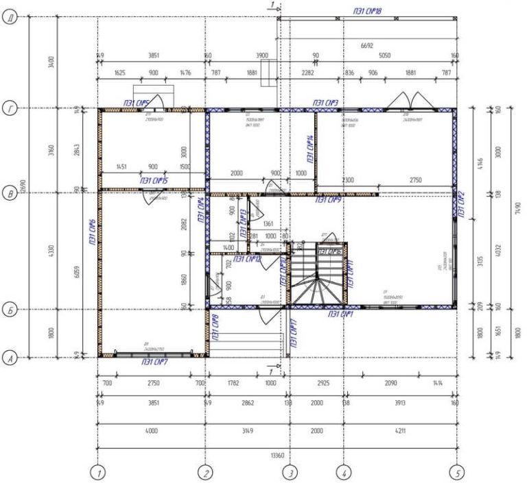 План второго этажа каркасного дома хай тек