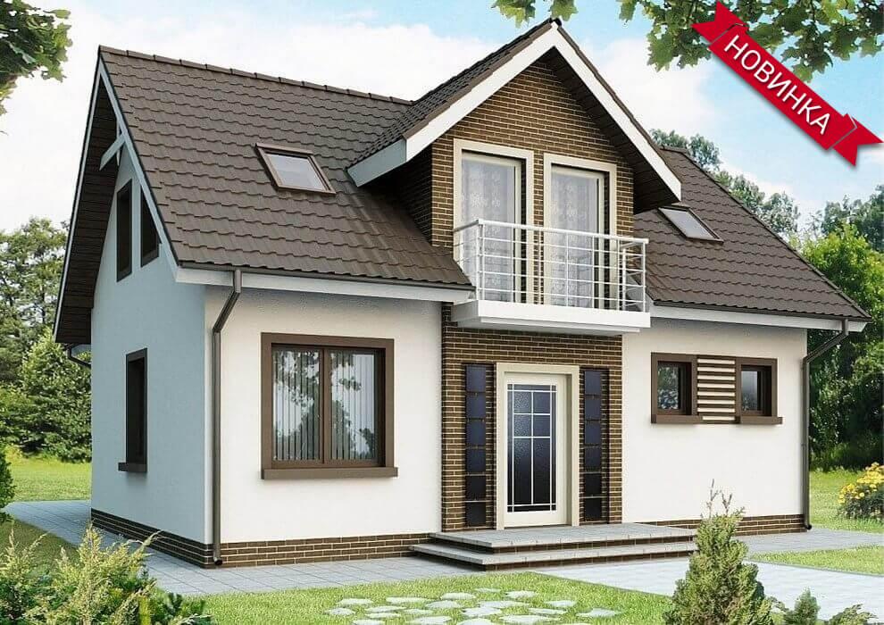 Проект каркасного дома из СИП панелей C1746 Мироновка