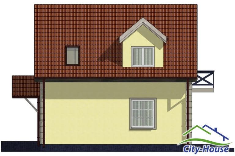 Фасад 3 каркасного дома из СИП панелей C1506 Львов