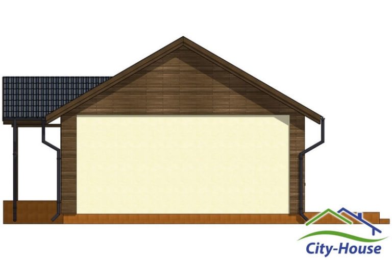 Фасад 3 каркасного дома из СИП панелей C1509 Одесса