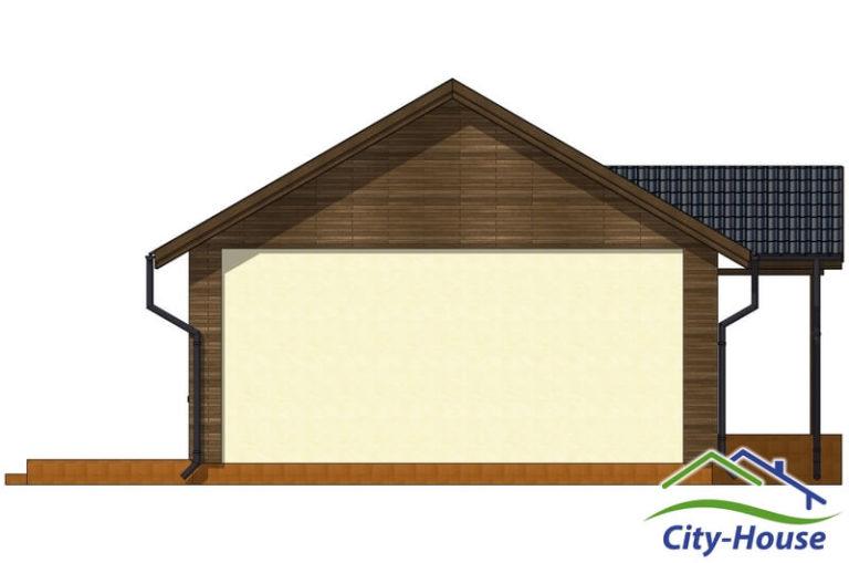 Фасад 4 каркасного дома из СИП панелей C1509 Одесса