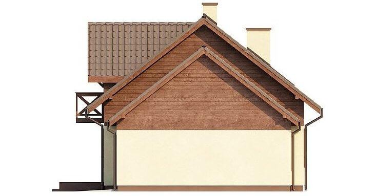 Вид 4 фасад каркасного дома из СИП панелей в скандинавском стиле