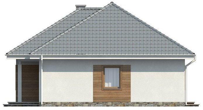 Фасад компактного одноэтажного дома из СИП панелей C1745 Васильков 3