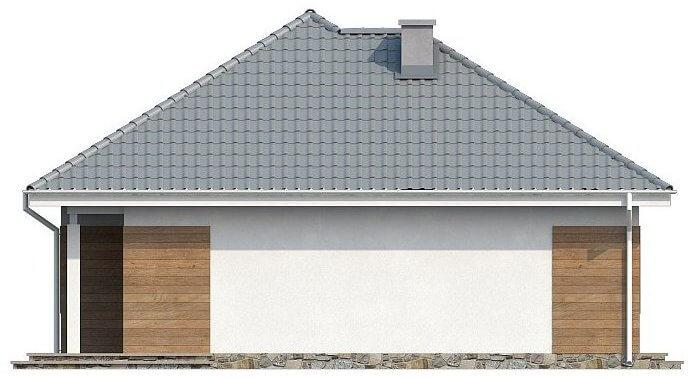 Фасад компактного одноэтажного дома из СИП панелей C1745 Васильков 4