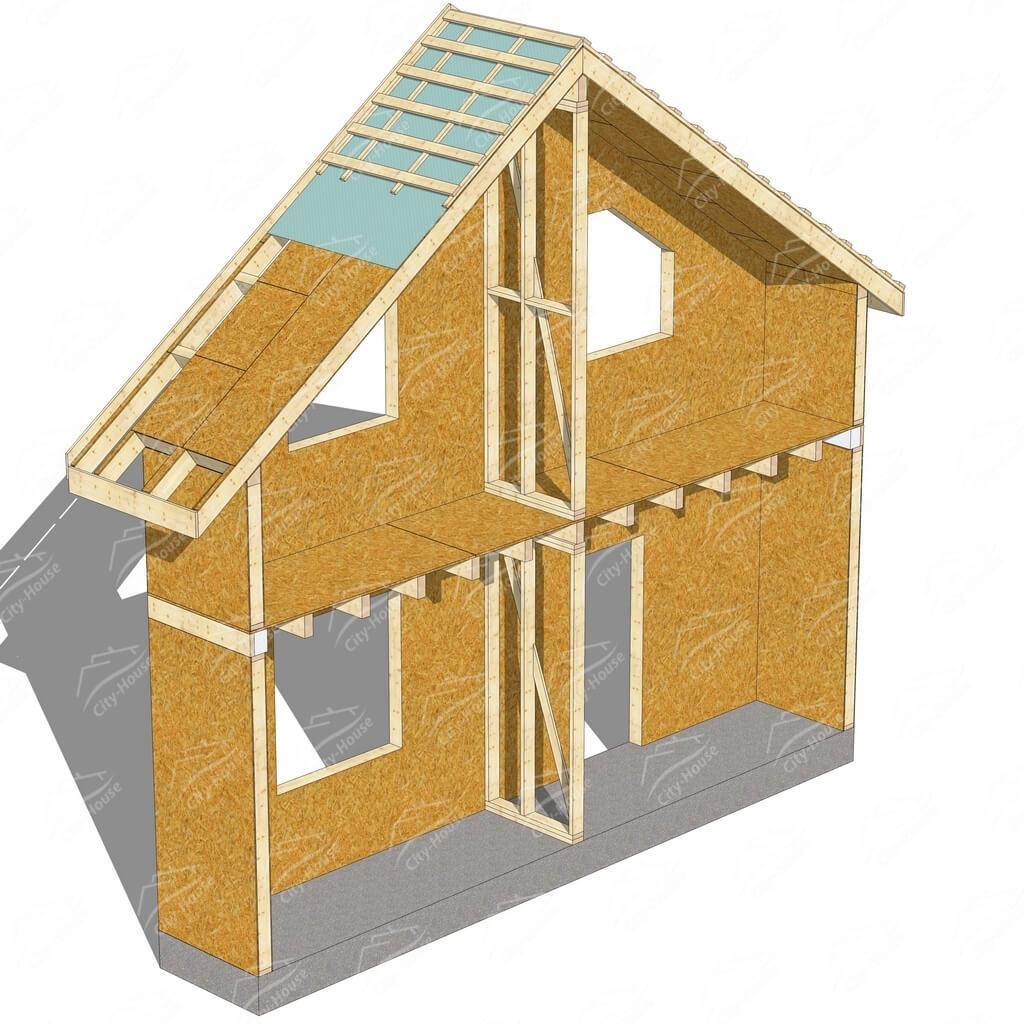 Комбинированный домокомплект из SIP панелей по канадской технологии