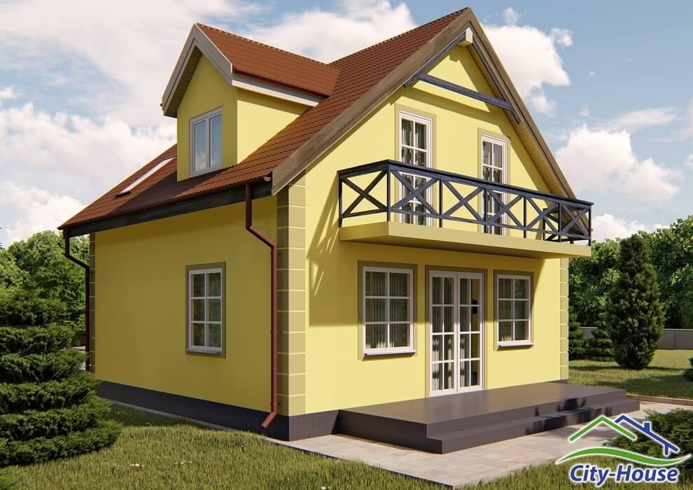 Проект каркасного дома из СИП панелей C1506 Львов