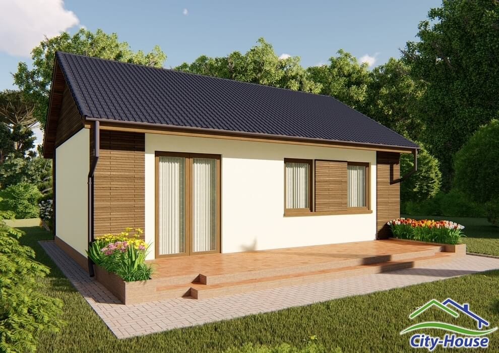 Проект каркасного дома из СИП панелей C1509 Одесса 2