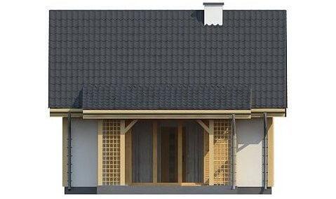 Фасад каркасного дома из СИП панелей C1759 Володарка