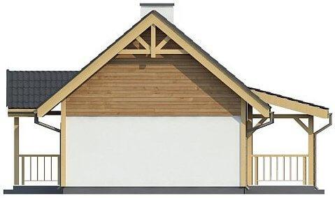 Фасад каркасного дома из СИП панелей C1759 Володарка 2
