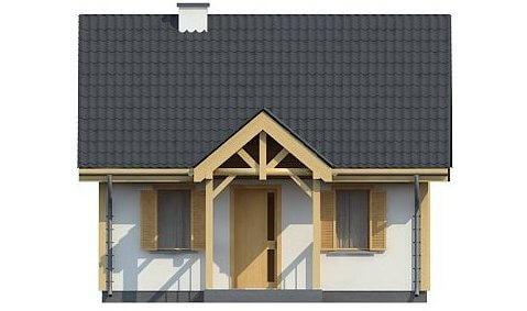Фасад каркасного дома из СИП панелей C1759 Володарка 3