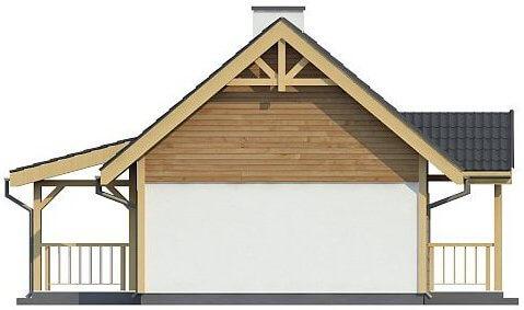 Фасад каркасного дома из СИП панелей C1759 Володарка 4