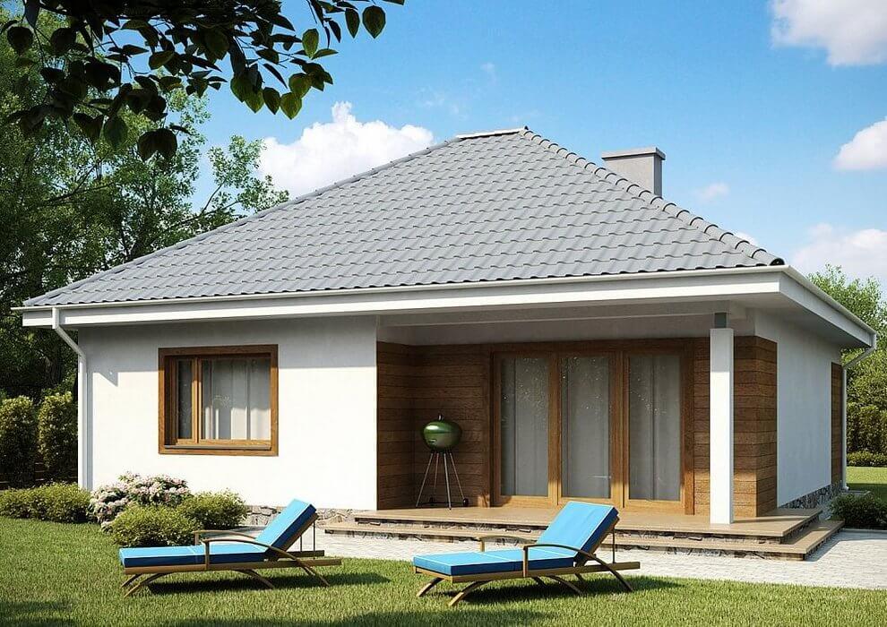 Проект компактного одноэтажного дома из СИП панелей C1745 Васильков 2