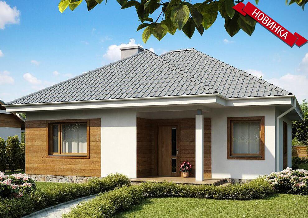 Проект компактного одноэтажного дома из СИП панелей C1745 Васильков