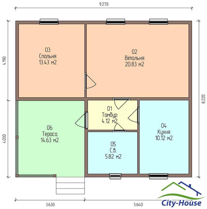 План этажа каркасного дома по акции Заходи и живи в марте