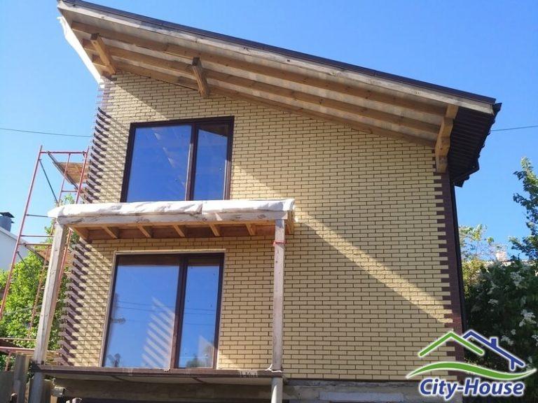 Каркасный дом с панорамными окнами