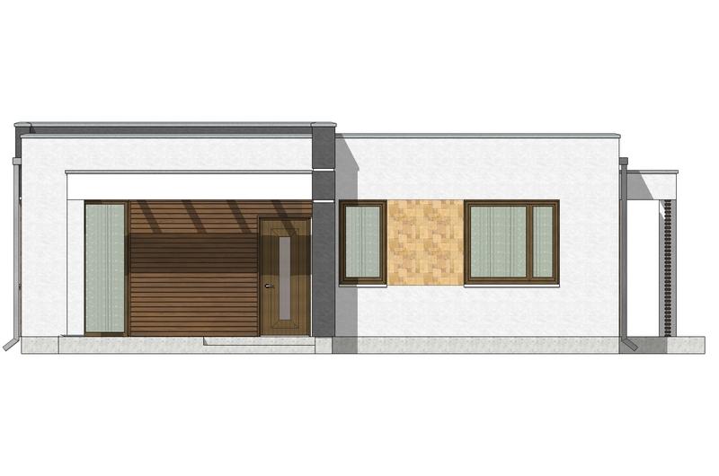 Фасад 1 каркасного дома по акции Заходи и живи в мае