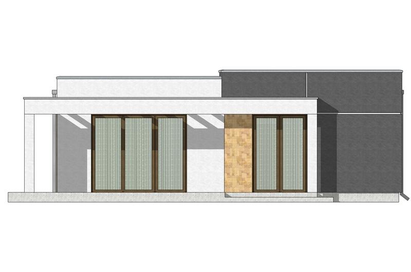 Фасад 2 каркасного дома по акции Заходи и живи в мае
