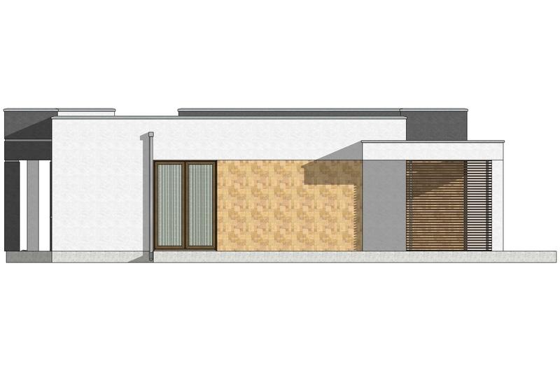 Фасад 3 каркасного дома по акции Заходи и живи в мае