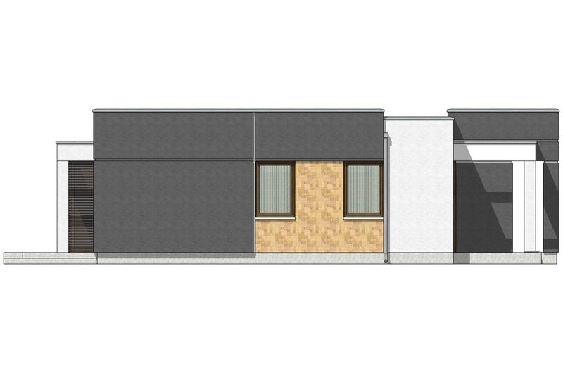 Фасад 4 каркасного дома по акции Заходи и живи в мае