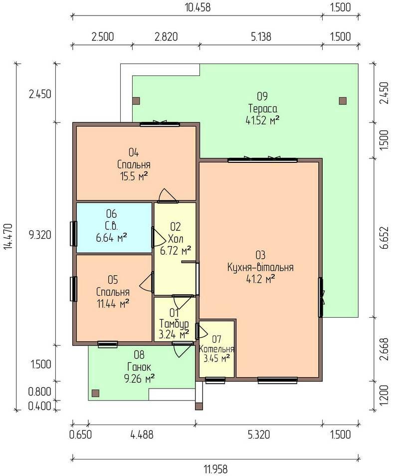 План этажа каркасного дома по акции Заходи и живи в мае