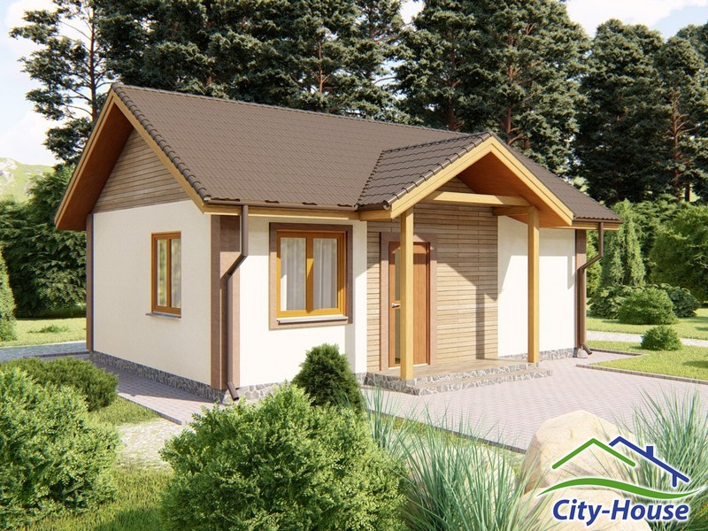 Архитектурная визуализация каркасного дома из СИП панелей под ключ