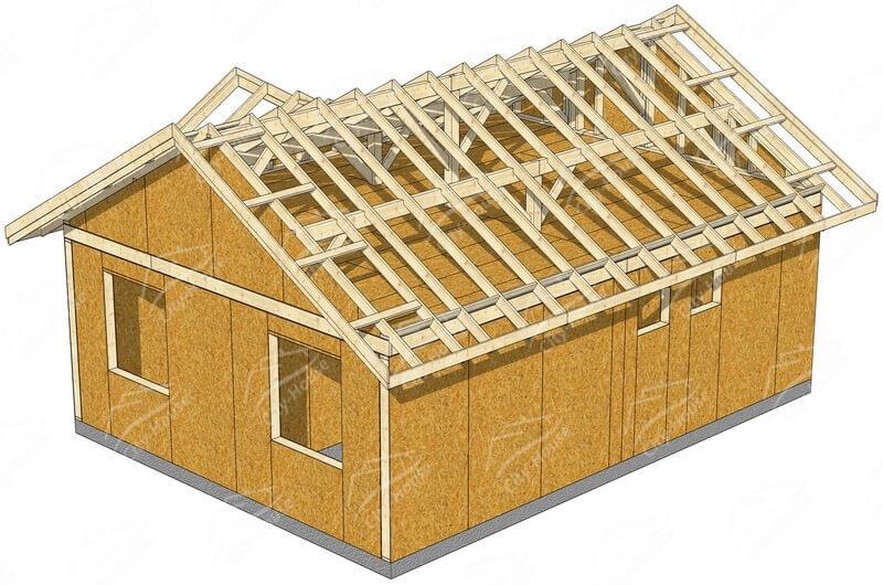 Конструкция каркасного домокомплектка из СИП панелей в Одессе