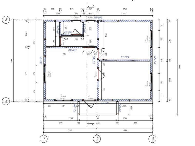 План каркасного домокомплектка из СИП панелей в Одессе