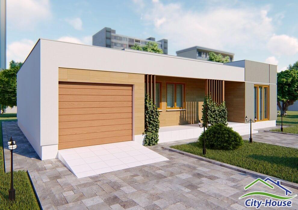 Проект дома в стиле модерн C1769 Александрия