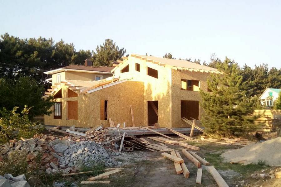 Большой каркасный дом из СИП панелей в Запорожье