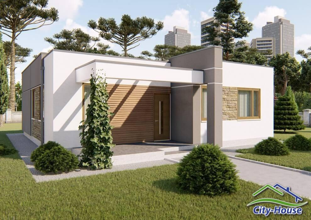 Проект каркасного дома из СИП панелей C1716 Ильинцы