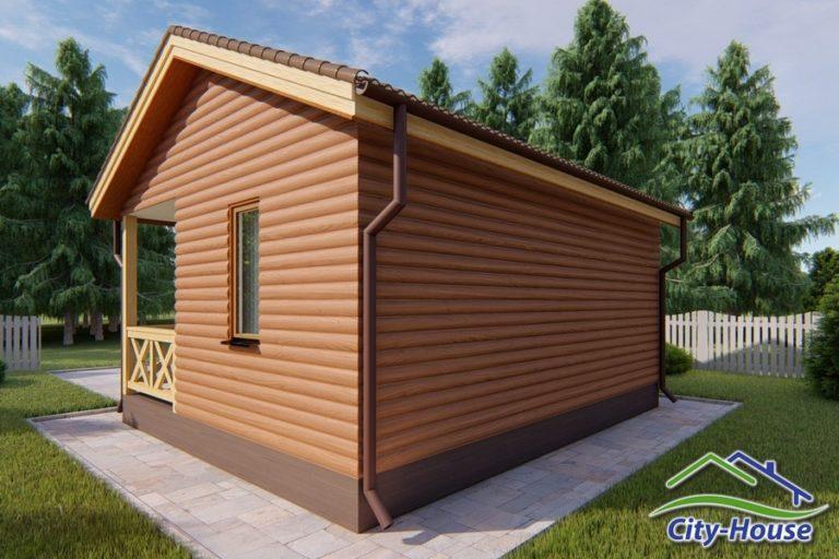 Архитектурная визуализация дачного домика из СИП панелей