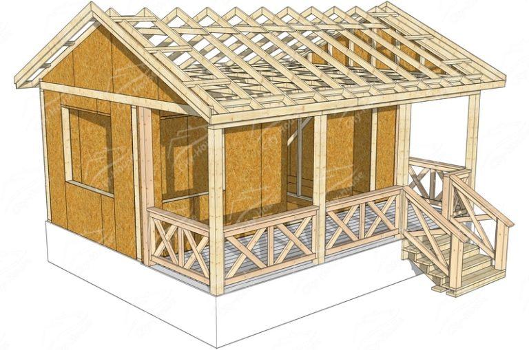 Домокомплект из СИП панелей в 3D